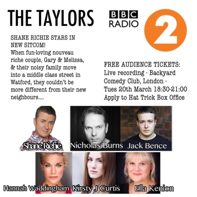"Shane Richie records live Radio 2 sitcom - ""The Taylors"""