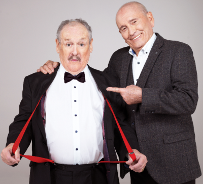 CANNON & BALL among comedy legends film the NEW show 'Last Laugh In Vegas' in the US